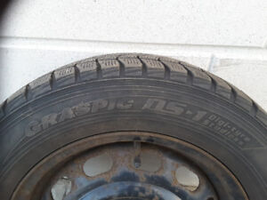 "Dunlop 15"" Winter Tires with Rims"
