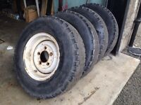 "Land Rover Defender Series 16"" Steel Wheels & Tyres Landrover"