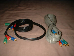 Fils RCA Component Video cables
