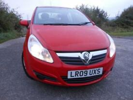 2009 09 VAUXHALL CORSA 1.2 ACTIVE CDTI 5D 73 BHP **ONE OWNER FROM NEW**£30 ROAD