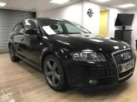 Audi A3 2.0TDI Sportback BLACK DIESEL BLUETOOTH WARRANTY 12 MONTHS MOT FSH