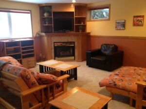 FULLY FURNISHED 1500 sq.ft. private walkout suite rural