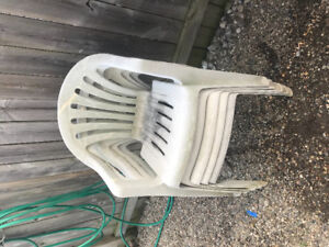 Free 4 resin chairs