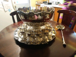 Siver plated punch bowl