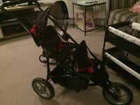 3 piece Mamas & Papas double dolls pushchair, chair and cot.