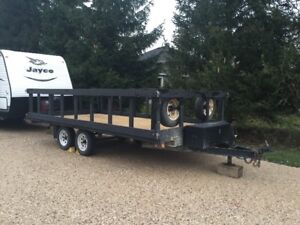 Large Flat Deck Utility Trailer