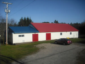 Excellent building with 3 beautiful acres!