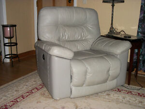 Ashley Leather Couch and Recliner