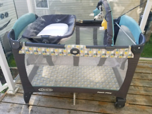 Greco brand Pack N Play with reversible lounger and changer $100