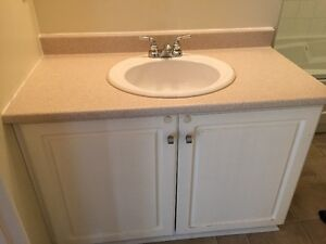 "39"" Vanity with faucets"