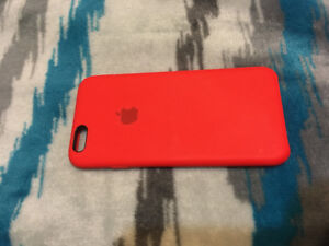 iPhone 6S Red Apple Silicone Case
