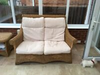Conservatory Furniture Settee two chairs and table