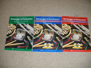 New Standard of Excellence Drums & Mallet Percussion Books 1,2,3