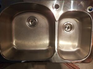 Stainless Steel Double Sink - Kindred 18 gauge