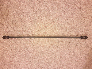 2 - Black/Brown Extendable Curtain Rods
