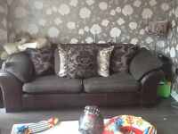 Beautiful Dfs 3 and 2 seater sofa with scatter back cushions