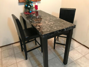 Bar height table & 2 chairs