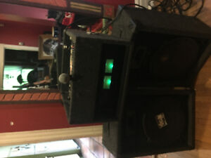Awesome portable PA system. Perfect for small jam space or DJ