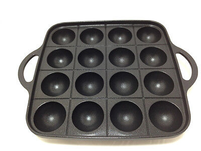 Japanese IWATANI TAKOYAKI Grill pan cooking plate CB-P-TAF 10.2in