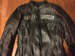 Harley Davidson women's leather riding coat and chaps