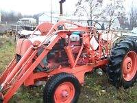 case tractor with loader