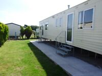 Caravan to let holiday resort unity Brean Somerset OCTOBER HALF TERM