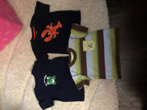 Gymboree boys sz 12-18 month tops and shorts
