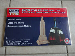 EMPIRE STATE BUILDING WOODEN PUZZLE NEW