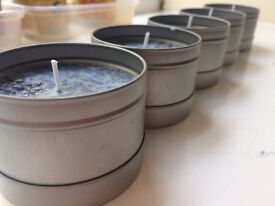 Handmade lavender candles