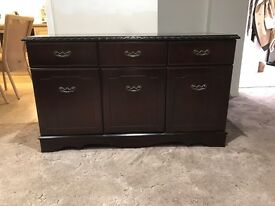 Solid Mahogany Dining Room Chest of Drawers/Cabinet