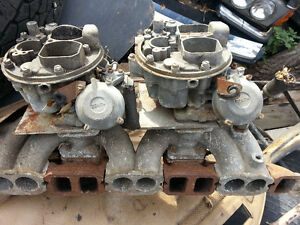 Mercedes 108 Zenith dual carburetor with intake manifold