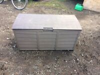 Plastic lift up garden shed .. 50cm x 120 x 60cm