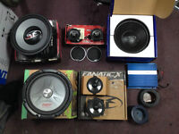 Selection of Car Audio equipment