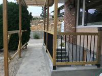 Concrete, Landscaping & Fence