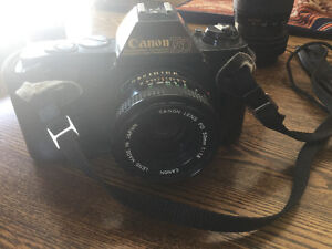 Older canon camera, film  and accessories for sale