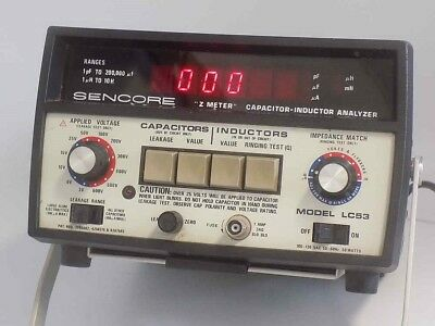 "SENCORE LC53 ""Z METER"" CAPACITOR-INDUCTOR ANALYZER AND SENCORE MANUAL"