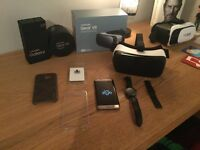 Samsung galaxy s7 edge, gear VR and galaxy gear s2 classic. Unlocked 32gb