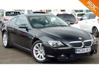 2005 05 BMW 6 SERIES 3.0 630I 2D AUTO 255 BHP SAT NAV+ELECTRIC/MEMORY/HEATED!