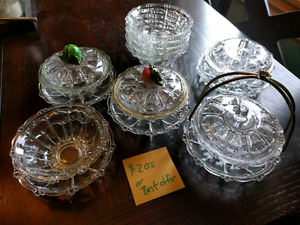 Glass serving dishes