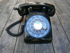 Vintage Western Electric Bell System Black Rotary Dial Phone
