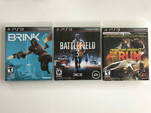 Three Playstation 3 games