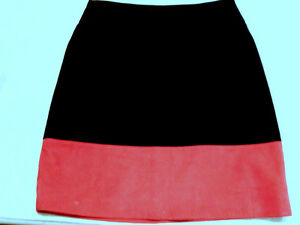 Vintage Genuine Suede Mini Skirt 1990s Solid Black