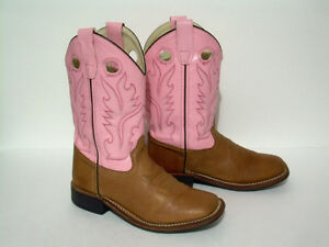 Girls Old West 1839 Cowboy Boots - Size 13-1/2 (020)