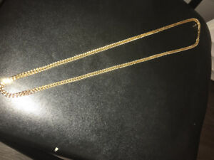 Gold Franco chain - Big chain - 5mm 30 inch 10k approx 40gz