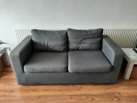 2 seater sofa bed grey