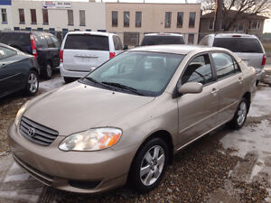 2004 TOYOTA COROLLA LE 7 MONTH WARRANTY INCLUDED