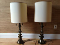 Two Solid Brass Stiffel Lamps
