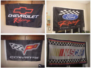 NASCAR, Chevy Racing, Ford Racing, Corvette flags, 3x5, new