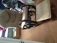 Rocking chair with rocking stool good for new moms or grannies