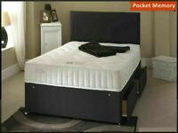 🔵💖🔴cash on delivery🔵💖🔴DOUBLE/KING SIZE DIVAN BED BASE WITH OPTIONAL MATTRESS & HEADBOARD